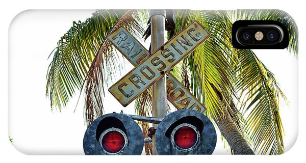 Old Railroad Crossing Sign IPhone Case