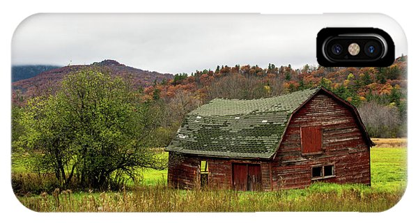 Old Red Adirondack Barn IPhone Case