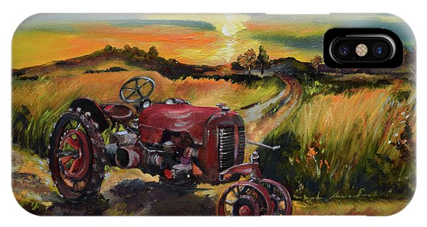 Old Red At Sunset - Tractor IPhone Case