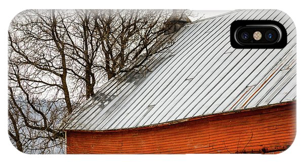 New England Barn iPhone Case - Old Red Barn Quechee Vermont by Edward Fielding