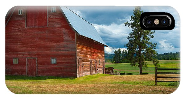 Old Red Big Sky Barn  IPhone Case