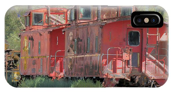 Red Caboose iPhone Case - Old Red Cabooses by Robert Ball