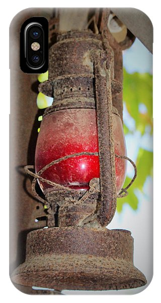 Timeworn iPhone Case - Old Red Lamp by Marnie Patchett