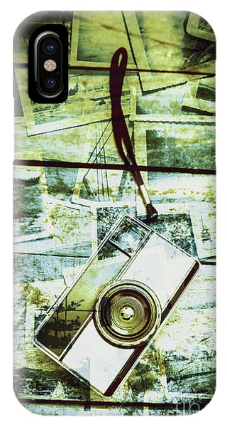 Vintage Camera iPhone Case - Old Retro Film Camera In Creative Composition by Jorgo Photography - Wall Art Gallery