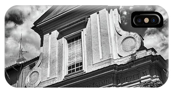 Old Roman Building In Black And White IPhone Case