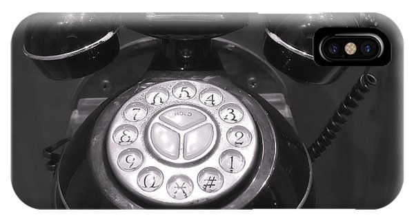 Old Rotary Dial Telephone IPhone Case