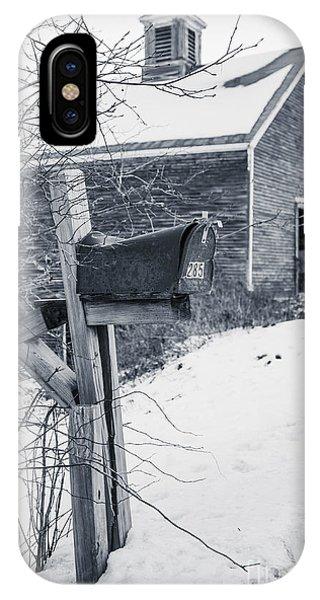 Etna iPhone Case - Old Rural Mailbox In Front Of An Old Barn by Edward Fielding