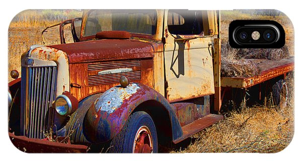 Trucking iPhone Case - Old Rusting Flatbed Truck by Garry Gay