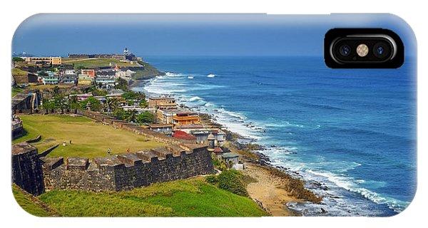 Old San Juan Coastline IPhone Case