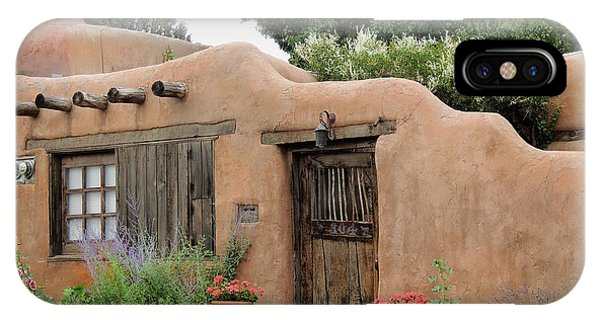 Old Santa Fe Cottage IPhone Case