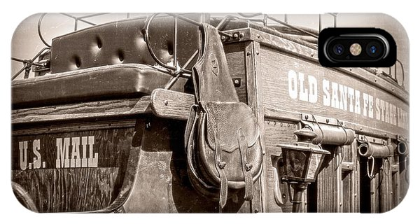 Old Santa Fe Stagecoach IPhone Case