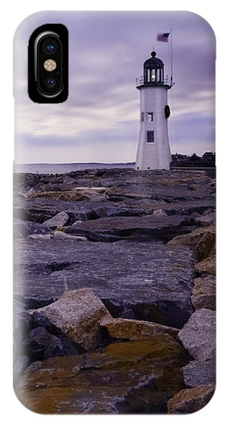 Old Scituate Light At Sunrise IPhone Case