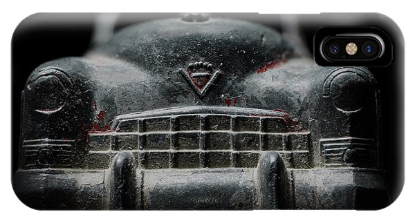Old Silver Cadillac Toy Car With Specks Of Red Paint IPhone Case