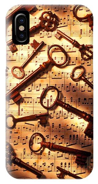 Old Skeleton Keys On Sheet Music IPhone Case