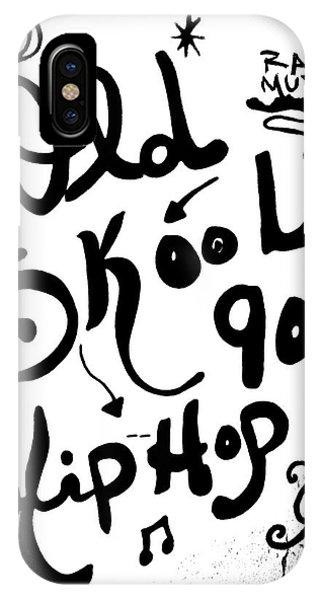 Old-skool 90's Hip-hop IPhone Case