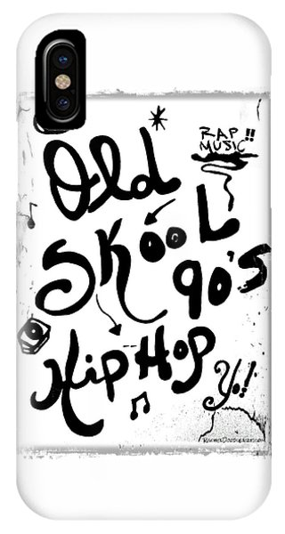 IPhone Case featuring the drawing Old-skool 90's Hip-hop by Rachel Maynard