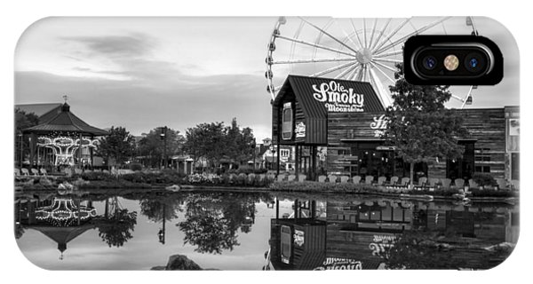 Ole Smoky Tennessee Moonshine Reflection In Black And White IPhone Case