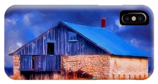 Old Stone Barn Blue IPhone Case