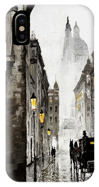 Cab iPhone Case - Old Street by Yuriy Shevchuk