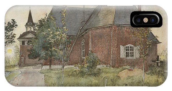 Art And Craft iPhone Case - Old Sundborn Church. From A Home by Carl Larsson