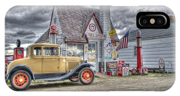 Old Time Gas Station IPhone Case