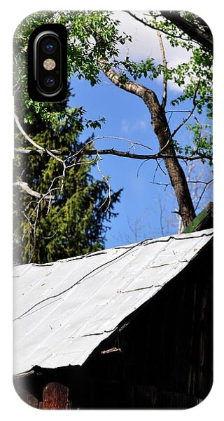 IPhone Case featuring the photograph Old Tin Roof by Jerry Sodorff