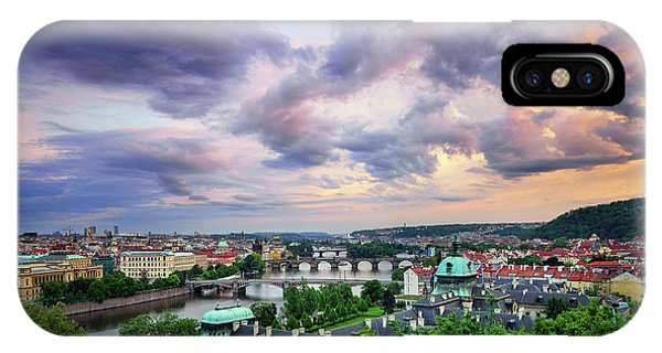 Old Town And Charles Bridge, Prague, Czech Republic IPhone Case