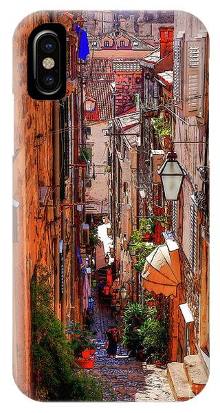 Old Town Dubrovniks Inner Passages IPhone Case