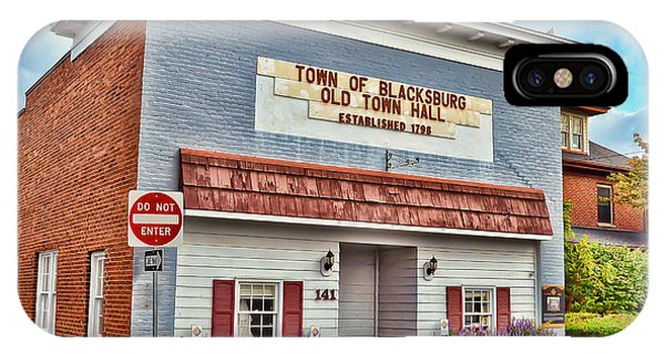 Old Town Hall Blacksburg Virginia Est 1798 IPhone Case
