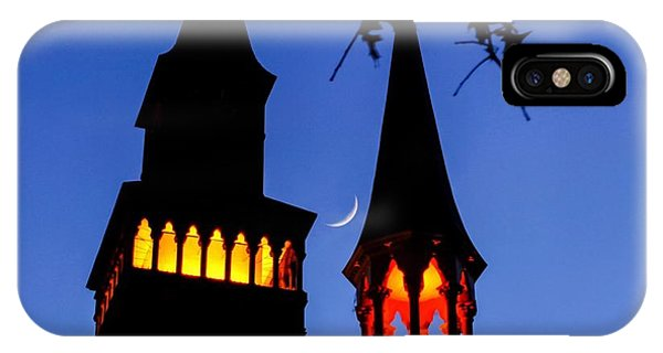 IPhone Case featuring the photograph Old Town Hall Crescent Moon by Sven Kielhorn