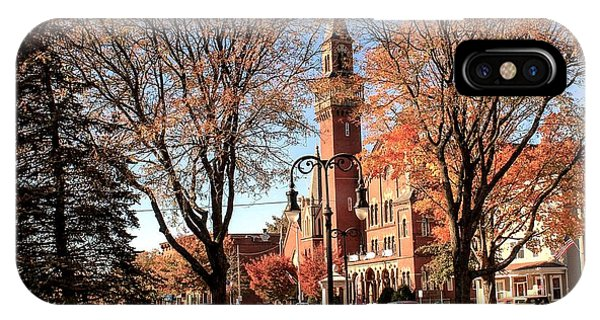 Old Town Hall In The Fall IPhone Case