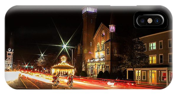 Old Town Hall Light Trails IPhone Case