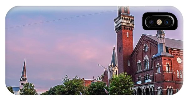 Old Town Hall Sunset Sky IPhone Case
