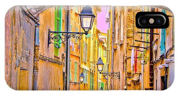 Old Town Nizza, Southern France IPhone Case