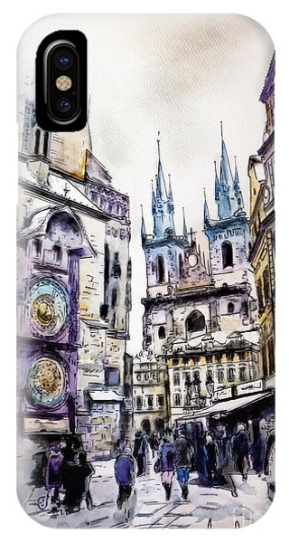 Gothic iPhone Case - Old Town Square In Prague by Melanie D