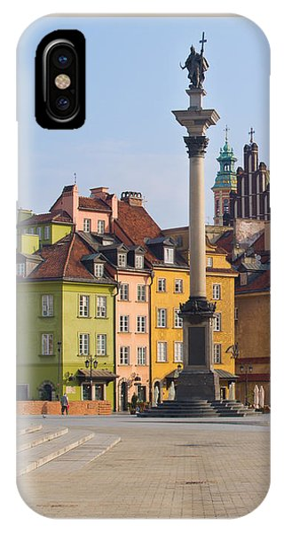 Old Town Square Zamkowy Plac In Warsaw IPhone Case
