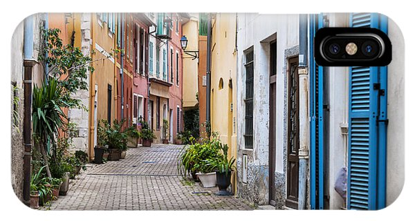 French Riviera iPhone Case - Old Town Street In Villefranche-sur-mer by Elena Elisseeva