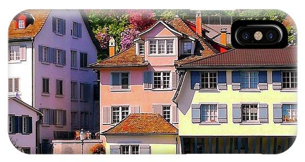 Old Town Zurich, Switzerland IPhone Case