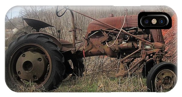 Old Tractor-clarks Farm IPhone Case