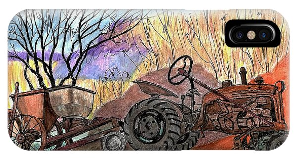 Old Tractor Danvers Ma IPhone Case