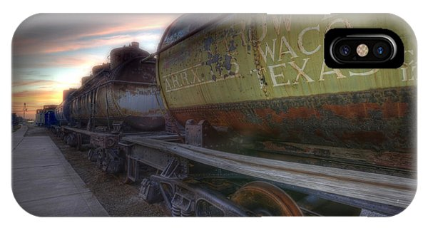 Old Train - Galveston, Tx 2 IPhone Case