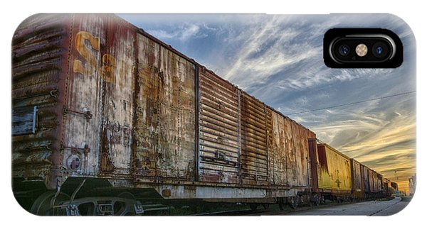 Old Train - Galveston, Tx IPhone Case