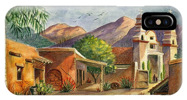 Adobe iPhone Case - Old Tucson by Marilyn Smith