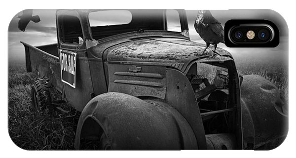 Old Vintage Chevy Pickup Truck With Ravens IPhone Case