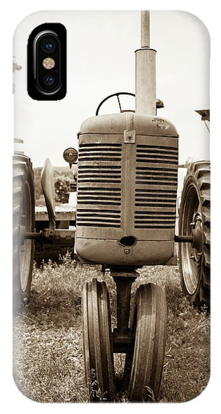 New Hampshire iPhone Case - Old Vintage Tractor Cornish New Hampshire by Edward Fielding