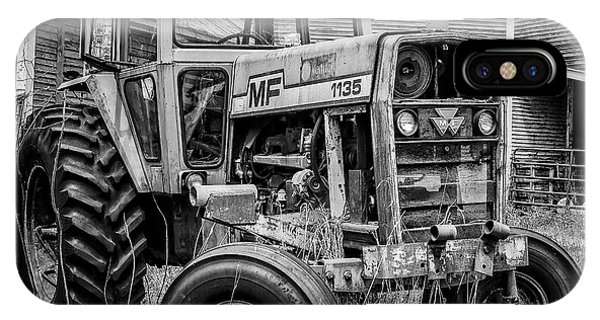 Old Vintage Tractor On A Farm In New Hampshire Square IPhone Case