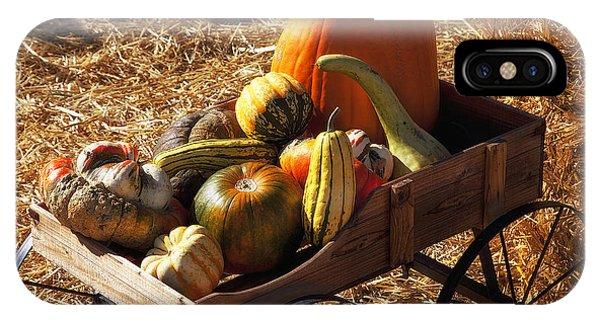 Old Wagon Full Of Autumn Fruit IPhone Case