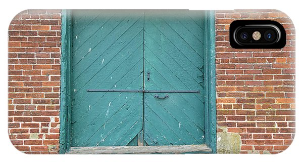 Old Warehouse Loading Door And Brick Wall IPhone Case