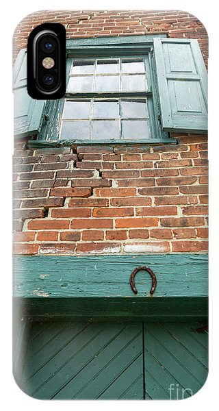 Old Warehouse Window And Lucky Door IPhone Case