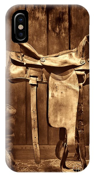 Old Western Saddle IPhone Case